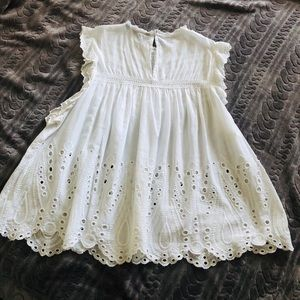 Zara Tops - Zara Embroidered Blouse white!!